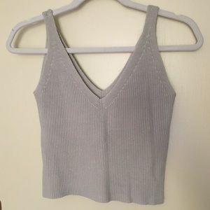 Brandy Melville Sweater Tank Crop Top